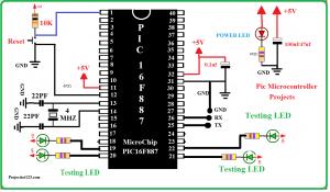 pic16f887 microcontroller,pic16f887 microcontroller Basic Circuit