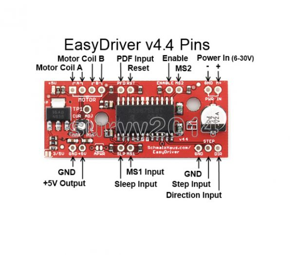 EasyDriver Shield Stepper Motor Driver A3967 in Pakistan