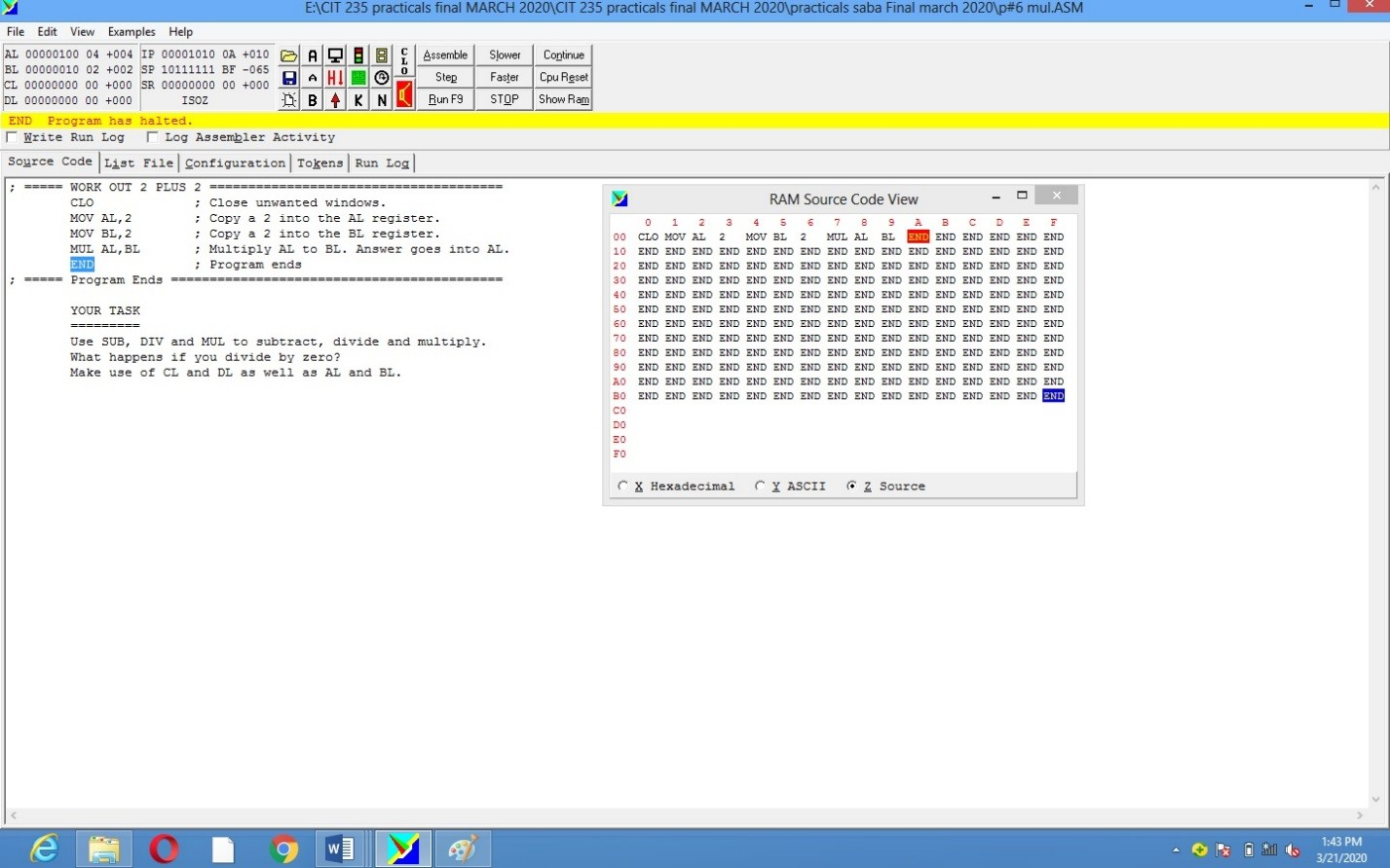 Disassembly of Simple Programs