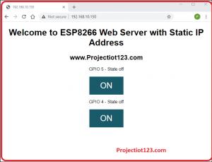 ESP8266 static IP address and MAC address