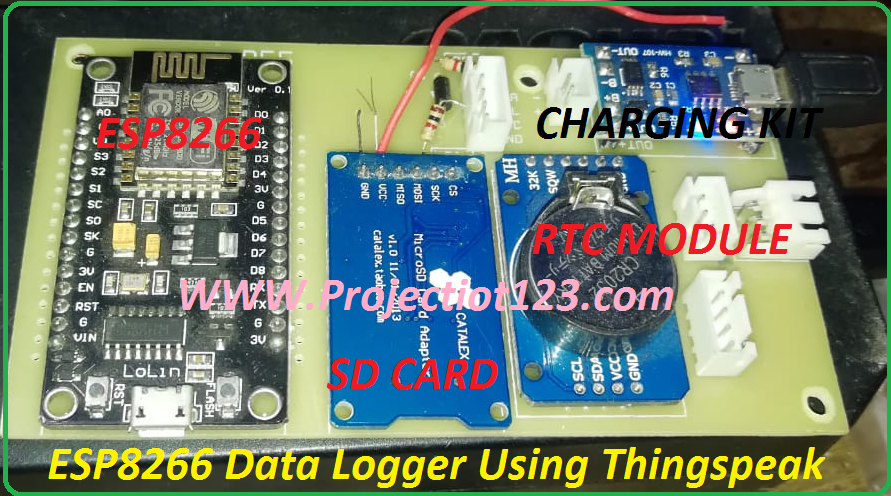 esp8266 data logger using thingspeak,esp8266 data logger diy,es8266 projects
