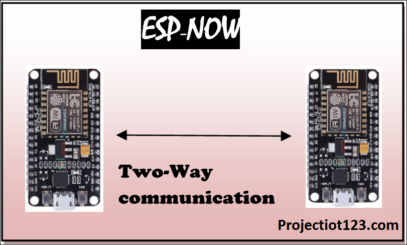 Getting Started with ESP-NOW ESP8266 with Arduino IDE