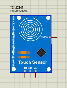 Touch Sensor Library for Proteus