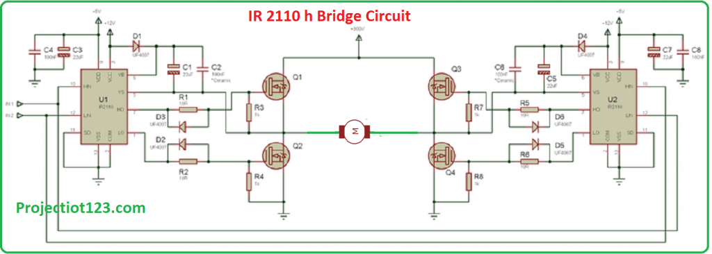 ir2110 h bridge circuit,ir2110 circuit diagram,ir2110 pinout