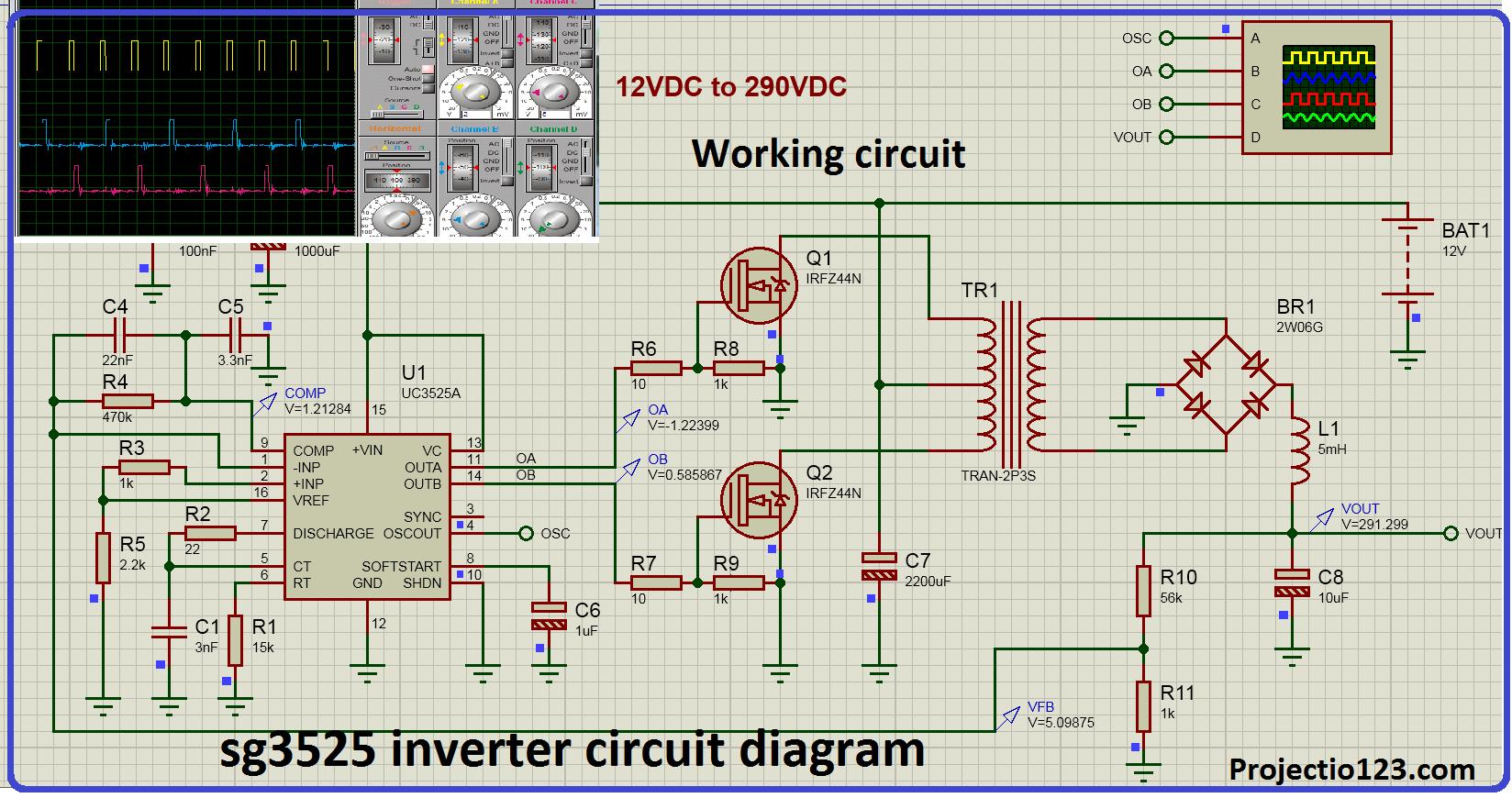 sg3525 inverter circuit diagram and sg3525 pinout