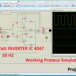 100 Watt INVERTER IC 4047 pinout proteus simulation