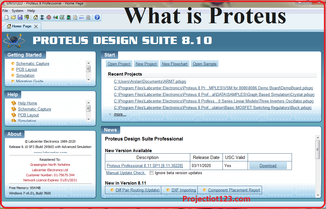what is proteus example circuits proteus software