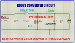 boost converter circuit diagram in proteus software