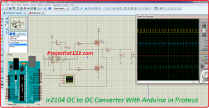 ir2104 DC to DC converter with arduino in proteus