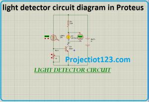 light detector circuit diagram in Proteus
