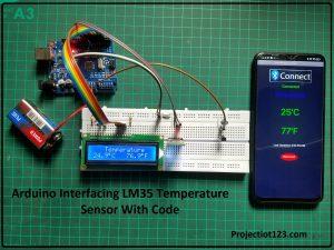 arduino lm35 temperature sensor code