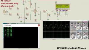 AC Voltage Measurement using Microcontroller with Proteus Simulation