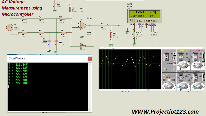 AC Voltage Measurement using Microcontroller with Proteus Simulation
