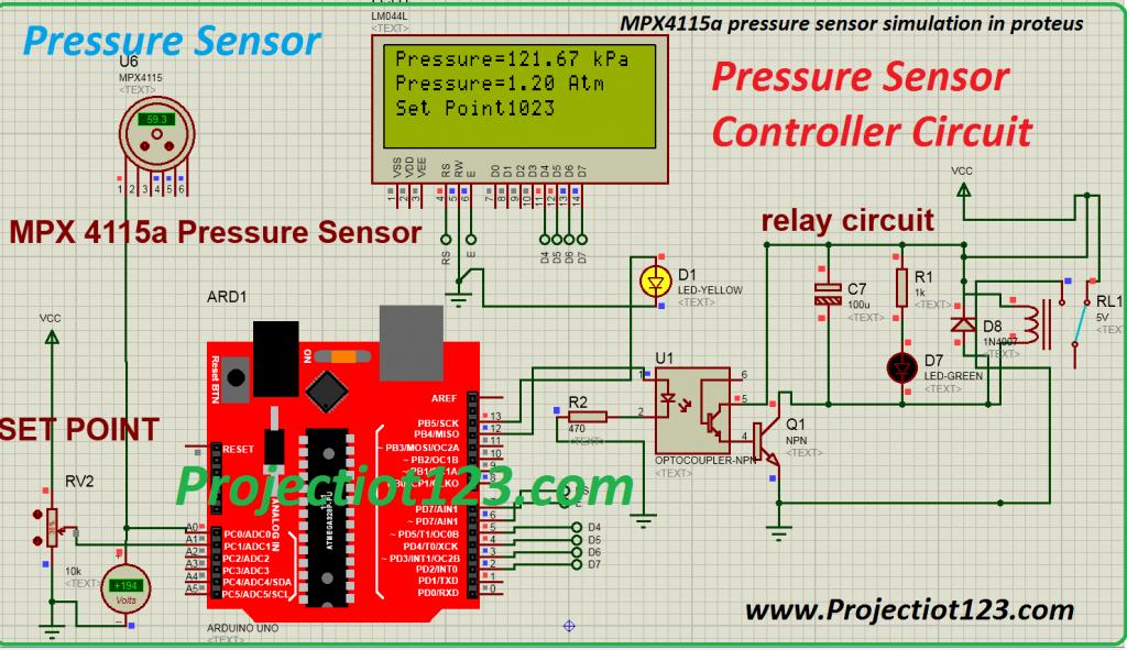 mpx4115a pressure sensor ,circuit arduino ,pressure sensor specification,pressure sensor pinout
