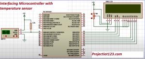 Interfacing Microcontroller with temperature sensor