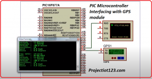 PIC Microcontroller Interfacing with GPS module Proteus Simulation