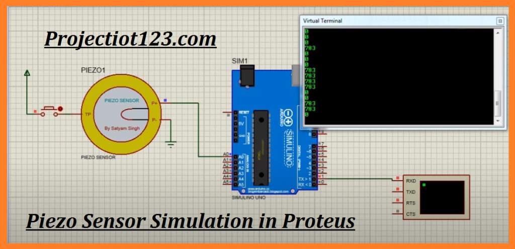 Piezo sensor Working ,Piezo sensor Specification ,circuit Proteus Library