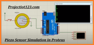 Piezo sensor Working Specification circuit Proteus Library
