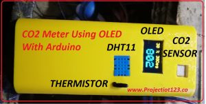 co2 meter using old,oled circuit arduino