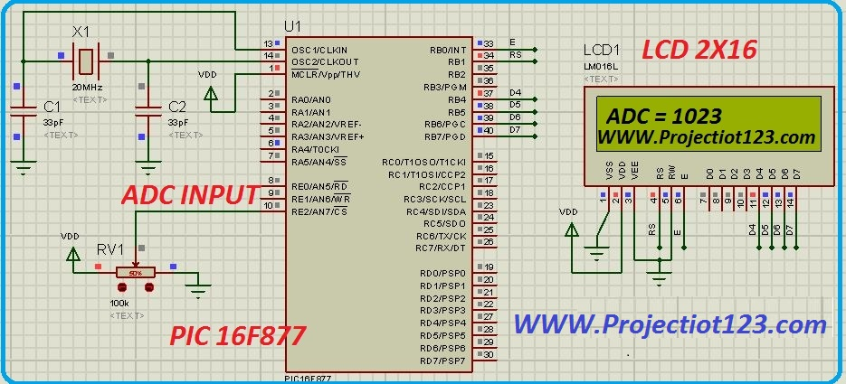 pic microcontroller interfacing with lcd in proteus