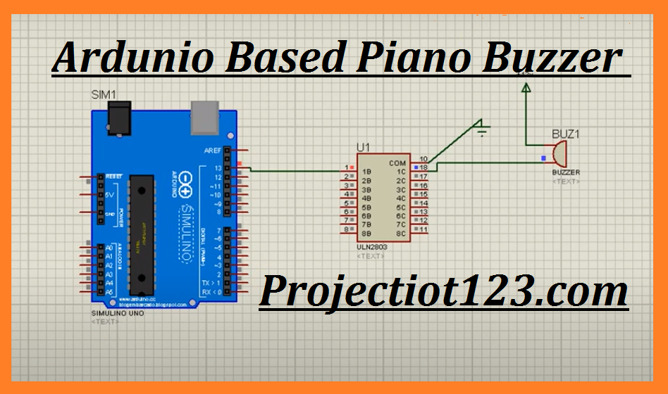 Arduino based Piano using piezo