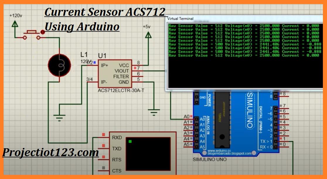 Current Sensor ACS712  Arduino code library voltage circuit