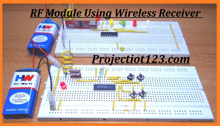 RF Module proteus circuit pinout HT12E HT12D