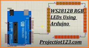 WS2812B RGB LEDs Using Arduino,WS2812B RGB LEDs proteus library