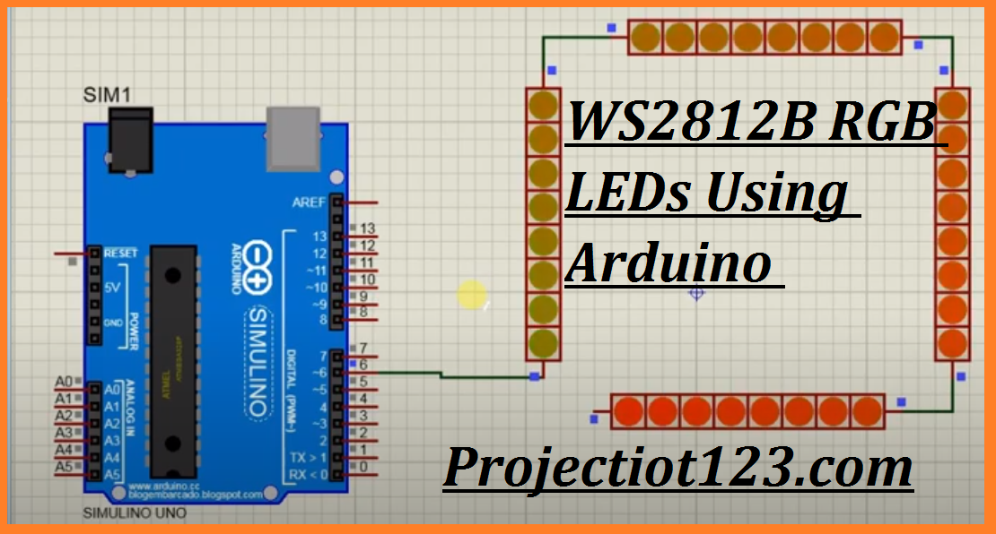 WS2812B pinout arduino wiring proteus library