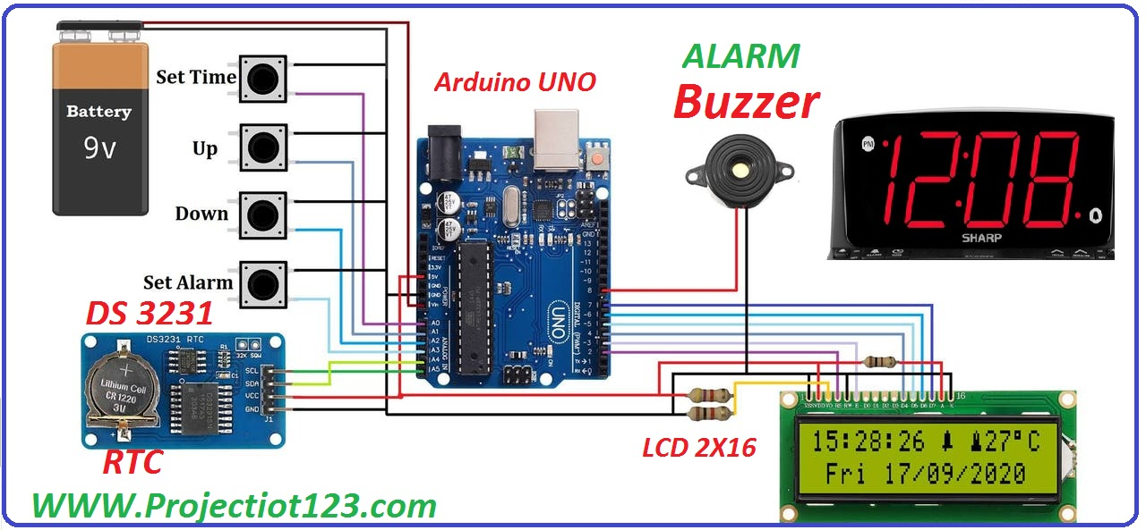 ds3231 arduino circuit pinout proteus library