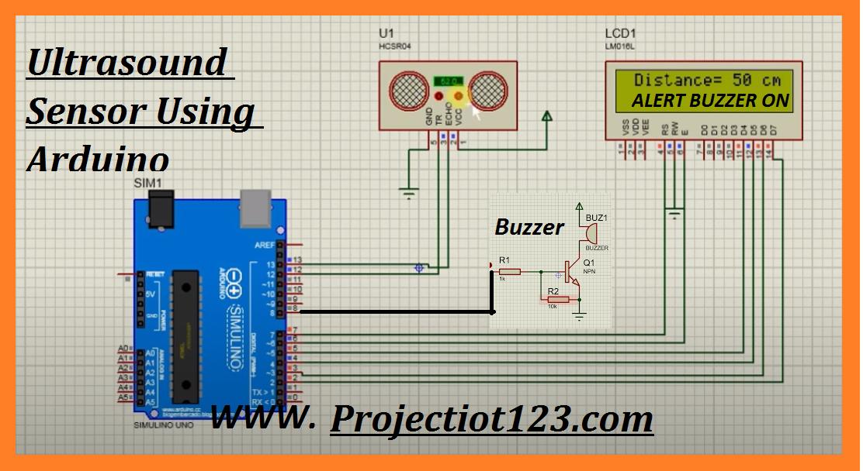 ultrasonic sensor arduino projects with buzzer