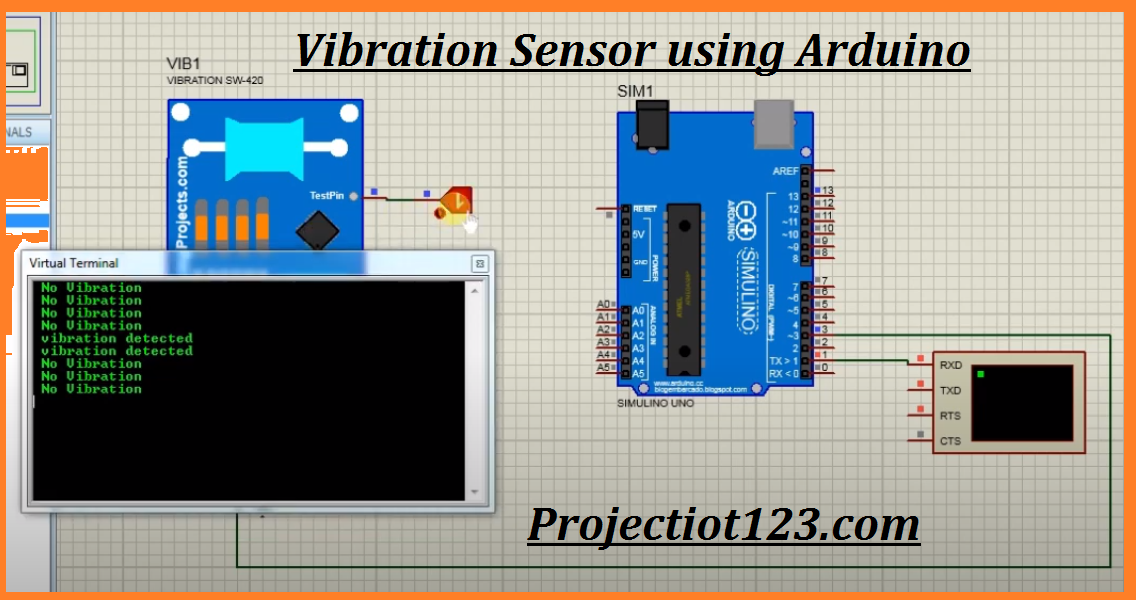 vibration sensor working principle arduino circuit proteus code