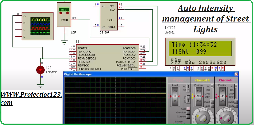 ATmega8 Microcontroller Project With Proteus Simulation
