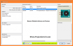 Buzzer Module Library in Proteus 8