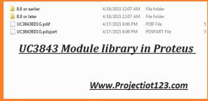 UC3843 pinout library Proteus