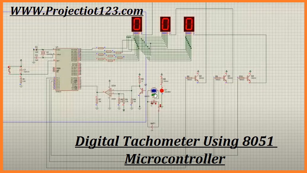 Digital Tachometer Using 8051 Microcontroller