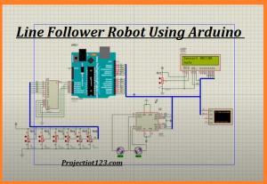 FAST Line Follower Robot CIRCUIT DIAGRAM