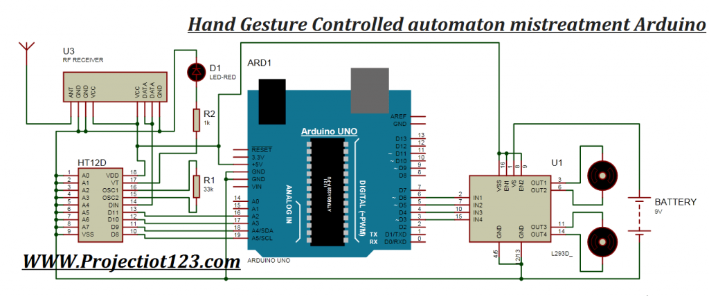 Hand Gesture Controlled Robot Using Arduino and mpu6050
