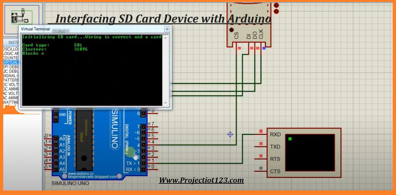 Interfacing SD Card module with Arduino in Proteus