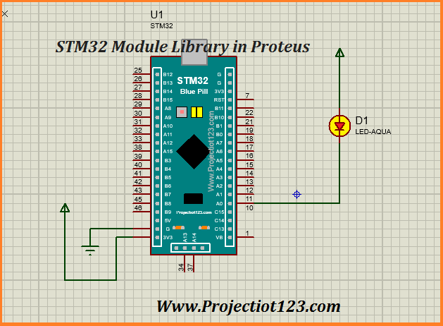 STM32 Library for Proteus