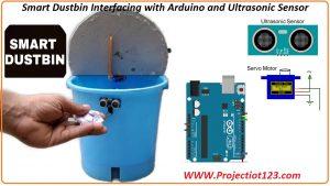 Smart Dustbin using Arduino,Circuit Design Of Smart Dustbin