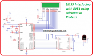lm35 interfacing with 8051 using adc0808 in proteus