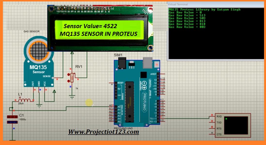 mq135 arduino library pinout proteus library